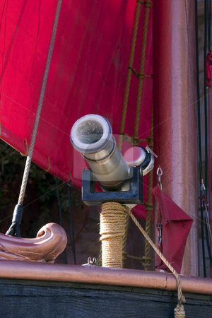 Close up on a Pirate Ship Cannon stock photo, Close up on a Pirate Ship in Las Vegas by Mehmet Dilsiz
