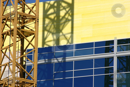 Construction Site Crane stock photo, Construction site crane- Zoomed in by Mehmet Dilsiz