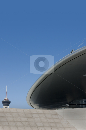 Abstract Building Roof in Las Vegas Strip stock photo, Abstract Roof in Las Vegas by Mehmet Dilsiz