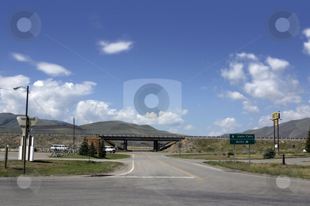 Looking into Highway from the Exit stock photo, Highway Exit View to the the Highway by Mehmet Dilsiz
