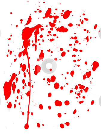 Blood Splatter stock photo, A blood splatter on white background would be good for Halloween or medical concepts. by Chris Harvey