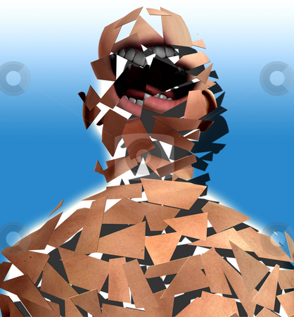 Shattered Screamer stock photo, Concept image to represent mental health problems. by Chris Harvey