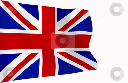 The Union Jack stock photo, The Union Jack flag blowing in the wind. by Chris Harvey