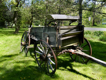 Pioneer's Wagon stock photo, Old Pioneer's Wagon.. Its so old that its wheels are lopsided now. by Dazz Lee Photography