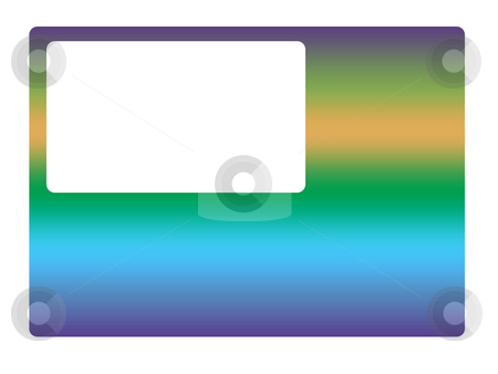 Blank Business Card stock photo, A business card with a blank customisable space. by Chris Harvey