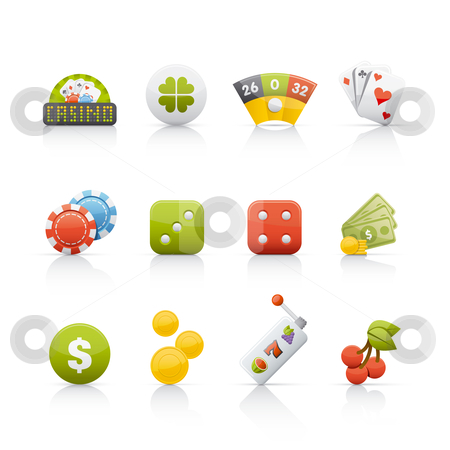 Icon Set - Casino stock vector clipart, Set of icons on white background in Adobe Illustrator EPS 8 format for multiple applications. by Sebasti??n Al?