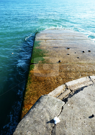 Walter View From Sea Defence stock photo, View from a costal sea defence in Brighton. by Chris Harvey