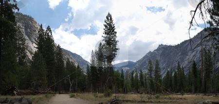 Canyon panoramic stock photo,  by Brett Horne