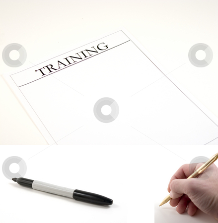 Training Paper - (marker and hand with pen included to be pasted stock photo, Training Paper - hand with pen and marker included separately.  Feeback Paper dimension 3020x2048... Hand with pen dimension 1000x990, Marker dimension 1700x760 by Mehmet Dilsiz