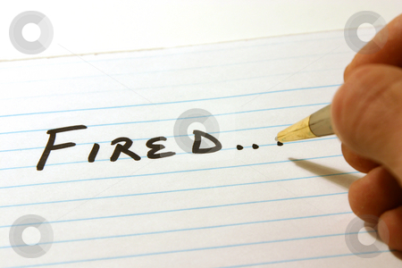 FIRED - Notepad & Pen stock photo, FIRED - Notepad & PenIsolated by Mehmet Dilsiz