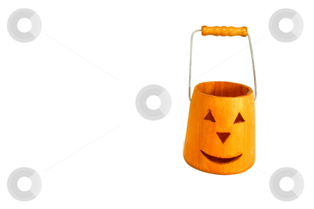 Halloween Decoration  stock photo, Halloween Decoration - Trick or Treat Bucket by Mehmet Dilsiz
