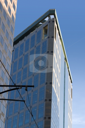 Downtown Mirrored Buildings stock photo, Mirrored Business Building by Mehmet Dilsiz