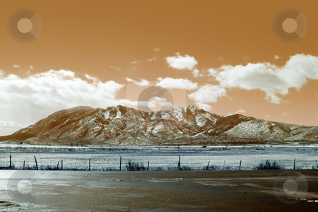 Abstract Mountains stock photo, Abstract Brown Mountains by Mehmet Dilsiz