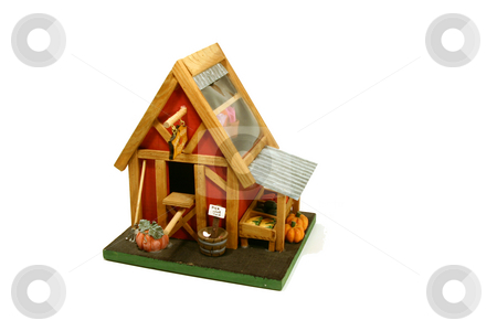 Halloween Decoration - Farm house stock photo, Halloween Decoration - Miniature Farm House by Mehmet Dilsiz