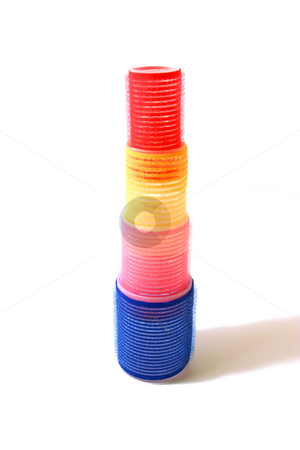 Velcro Hair Curler Tower stock photo, Colorful Velcro Hair Curler Tower by Mehmet Dilsiz