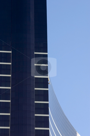 Close up on a skyscraper with clear skies stock photo, Close up on a skyscraper with clear skies in Las Vegas by Mehmet Dilsiz