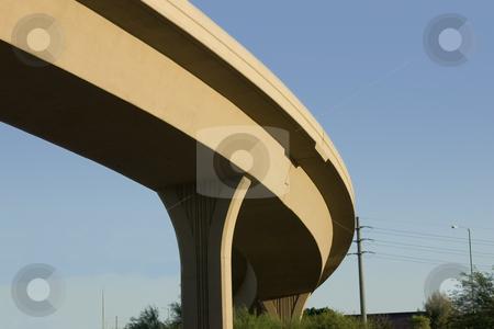 Bridge over the Highway stock photo, Close up on the curve of a Bridge over the Highway by Mehmet Dilsiz