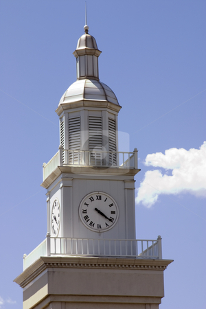 Close up on a Clock Tower stock photo, Close up on a Clock Tower in an old Train Station by Mehmet Dilsiz
