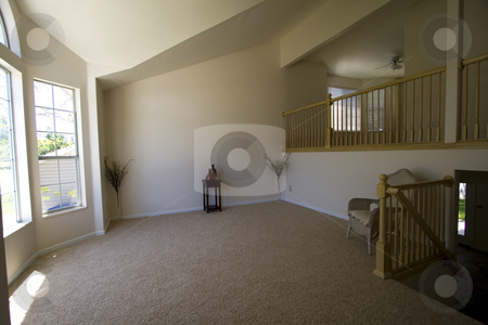 Empty Living Room stock photo, Empty Living Room in a New House by Mehmet Dilsiz