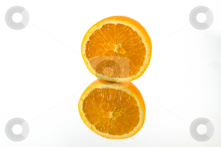 Orange on a Mirror stock photo, Isolated Shot of an Oranges on a Mirror by Mehmet Dilsiz