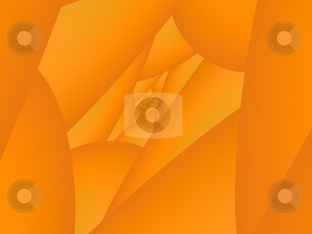 Orange Abstract stock photo, Computer generated fractal image in an orange abstract background design. by Colin Forrest