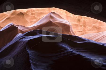 Amazing Sandstone stock photo, Colorful slot canyon, Lower Antelope Canyon, Arizona, United States by mdphot