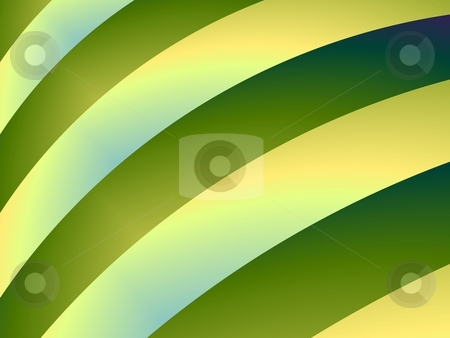 Yellow Bands On Green stock photo, Computer generated fractal image with an abstract banded design in yellow and green. by Colin Forrest