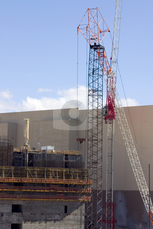 Construction Site and a Crane stock photo, Construction Site and a Crane in Las Vegas by Mehmet Dilsiz
