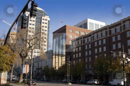 Downtown Salt Lake City stock photo, Downtown Salt Lake City across from the Mormon Temple by Mehmet Dilsiz
