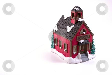 Christmas Decoration House - School stock photo, Christmas Decoration House - School by Mehmet Dilsiz