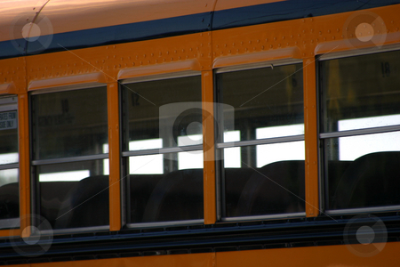 School Bus Windows stock photo, Close up on a school bus windows by Mehmet Dilsiz