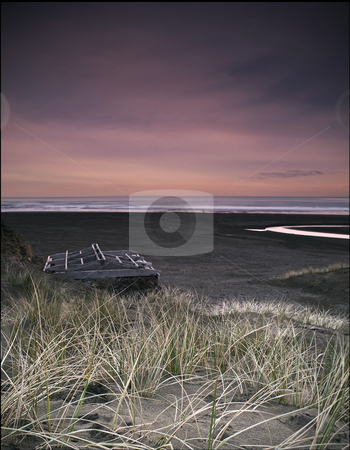 The Piano stock photo, Black sand?? by Robin Ducker