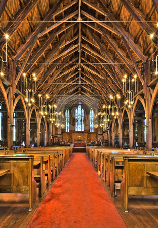 St Mary's Cathedral  stock photo, Reputed to be the largest wooden Gothic cathedral in the world this is a 5 shot HDR image by Robin Ducker