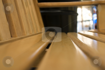 Close up on the Bench stock photo, Close up on a bench in the mall by Mehmet Dilsiz
