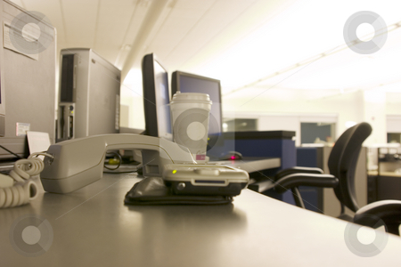 Workstation stock photo, Workstation a PDA and a Phone in Focus by Mehmet Dilsiz