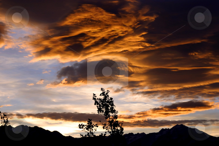 Angry Skies stock photo, Angry Skies over Mountains by Mehmet Dilsiz