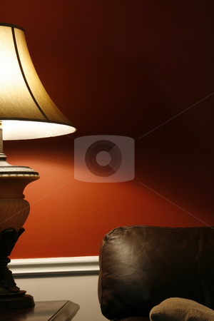Lamp and the Couch - Vertical  stock photo, Close up on a Lamp and the Coush in a House - Vertical Shot by Mehmet Dilsiz