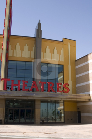 Movie Theatre Sign stock photo, Close up on a Movie Theatre Sign by Mehmet Dilsiz