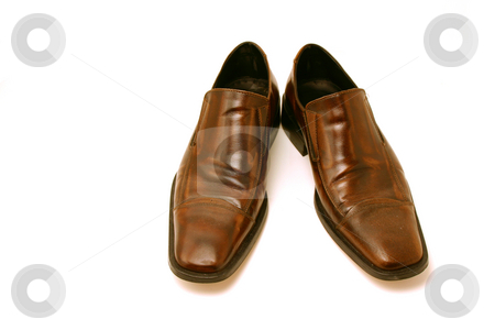 Classy Business Shoes stock photo, Isolated picture of a pair of Brown Shoes by Mehmet Dilsiz