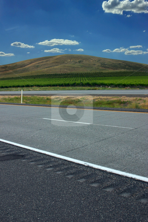Close up on a Countryside Farming Fields  stock photo, Close up on a Countryside Farming Fields from the Highway by Mehmet Dilsiz