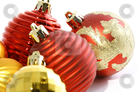 Christmas Ornaments stock photo, Close up on Colorful Christmas Ornaments by Mehmet Dilsiz