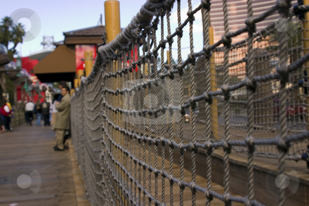 Sidewalk in the strip in Las Vegas - Pirate / dock themed sidewa stock photo, Sidewalk in the strip in Las Vegas - Pirate / dock themed sidewalk DOF, close up on the ropes by Mehmet Dilsiz
