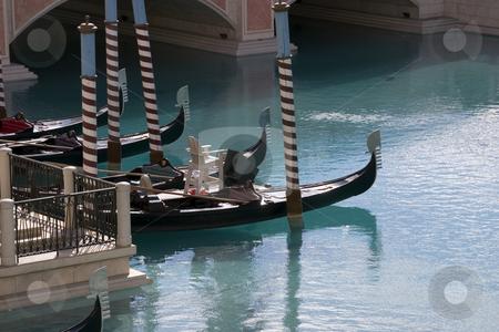 Gondolas in Venetian Hotel stock photo, Gondola in the Venetian Hotel, Las Vegas by Mehmet Dilsiz