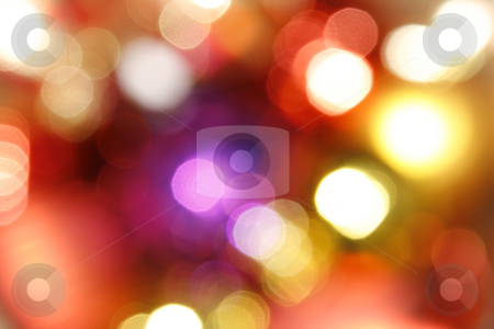 Abstract Holiday Lights stock photo, Abstract Blurry Holiday Lights by Mehmet Dilsiz