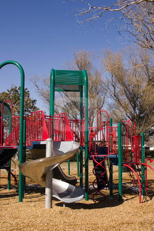 Empty Playground stock photo, Empty Playground in Spring by Mehmet Dilsiz