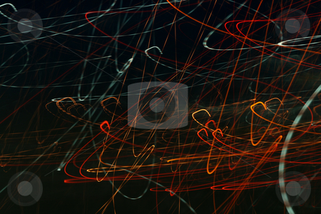 Abstract Lights stock photo, Abstract Lights on Black Background by Mehmet Dilsiz