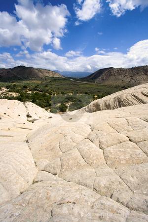 Looking down the Sandstones in to Snow Canyon - Utah stock photo, Snow Canyon in St. George, Utah - Sandstones by Mehmet Dilsiz
