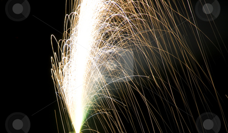 Firecrackers In The Sky stock photo, Firecrackers During Fourth of July - New Years Eve by Mehmet Dilsiz