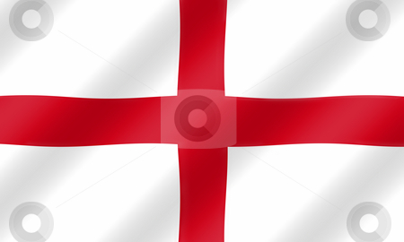 English St. George flag blowing in the wind  illustration. stock photo, English St. George flag blowing in the wind  illustration. by Stephen Rees