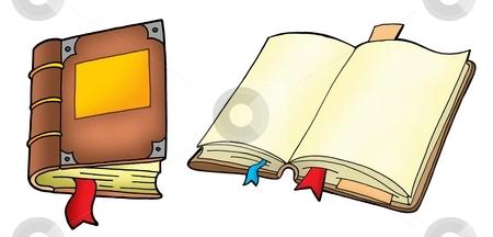 Two books stock photo, Two books on white background - vector illustration. by Klara Viskova